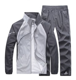 Wholesale Mens White Suit Pants - fashion men's casual tracksuits patchwork sportswear coats jackets+pants sets mens hoodies and sweatshirts outwear suits M-5XL free shipping