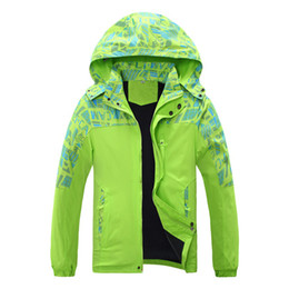 Wholesale Big Boys Coats - Wholesale- autumn and winter girl boy coat thickening hood Ski Jacket big boy and gril windproof waterproof outdoor hiking jacket