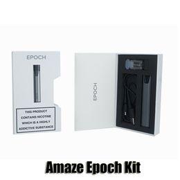 Wholesale Silver Usb Battery - 100% Original ALD Amaze Epoch Kit 210mAh Battery 0.48ml Atomizer Cartridge Usb Charger Vape Pen