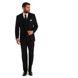 Wholesale Long Sleeve Vest For Groom - Hot sell Men suit Wedding Tuxedos for Groom Tuxedos formal business Slim Fit New Arrival Jacket+Pants+ Vest three-piece