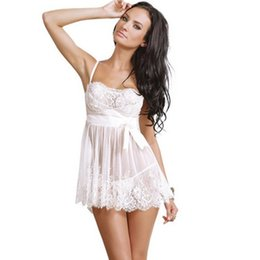 Wholesale Seductive Wear - Mesh Lace Perspective Style Seductive Wear, Exposed Breast Braces Skirt Sex Toy, Health Products, M L XL