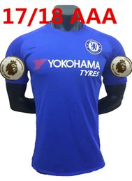 Wholesale Chelsea Jersey Shorts - top Thai Quality 2017 2018 home blue Chelsea Soccer jersey 17  18 HAZARD FABREGAS TERRY DIEGO COSTA home Jerseys men shirts free shipping