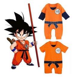 Wholesale Dragon Pajamas - Seven Dragon Ball SON GOKU Baby One Piece Clothes Cotton Pajamas Climbing Clothes