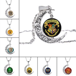 Wholesale Moon Gem - DHL Movie Jewelry for Fans Hogwarts Glass Cabochon Necklaces Moon Time Gem Pendants for Women Jewelry Gift