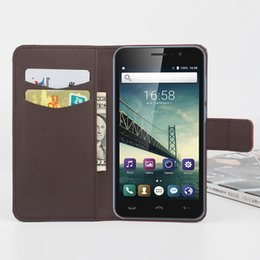 Wholesale Option Process - Folio Wallet PU Leather Protective Flip Stand Cards Slots Case with Tower Embossing Process for Homtom HT16 MINI More Models option