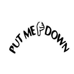 Wholesale Lettering Stickers For Walls - Put Me Down Decal Bathroom Toilet Seat Sign Reminder Quote Word Lettering Art Vinyl Sticker Decal Home Decor Words