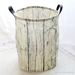 Wholesale Beverage Barrels - Laundry Basket Large Capacity Foldable Barrel Cotton Linen Clothes Toys Sundries Storage Box With Handle Water Proof Home Tool 13 8zy J R