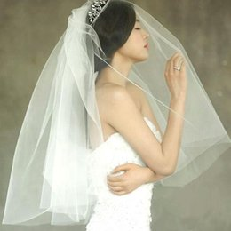 Wholesale Crochet Models - Special offer new han edition style wedding veil Insert double combed yarn can be covered face short model