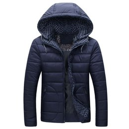 Wholesale Mens Down Padded - Wholesale- 2016 new Brand winter warm Jacket for men hooded coats casual mens thick coat male slim casual cotton padded down outerwear