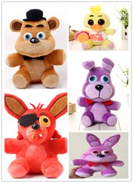 Wholesale Wholesale Plush Toys Great Quality - Wholesale-Five Nights at Freddy's Plush doll FNAF 25cm Freddy Fazbear Bear Foxy Stuffed Toys Great quality In STOCK Chirstmas gift