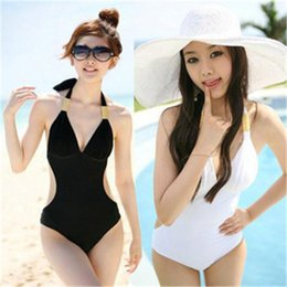Wholesale Wholesale Sexy One Pieces - 2017 New Hot Sexy One Piece Swimwear For Women Backless Underwire Swimsuit Tight Slim Bathing Suits