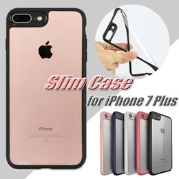 Wholesale Iphone Lens White - For iPhone 8 Case Ultra Slim Silicone Bumper Transparent Clear Case For iPhone 7 6 6S Plus SE Camera Lens Protection Free Shipping MOQ:10pcs