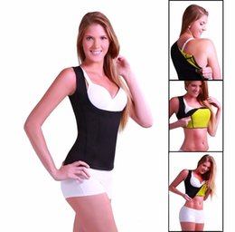 Wholesale Burns Vest - women Neoprene breast care abdomen fat burning fitness body girly stretch yuga exercise vest Hot Slimming Shaper Top