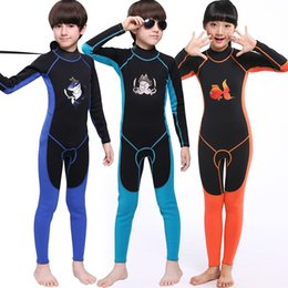 Wholesale Kids Sun Protection Swimsuit - good quality wholesale kids full wetsuit neoprene children swimsuit swim swear long sleeve and leggings sun protection one piece diving suit