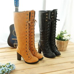 Wholesale Plush Easter Peeps - wholesaler free shipping factory price hot seller autumn winter fashion cotton ancient ways cross belt high boots Thick with high heel boot
