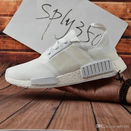 Wholesale Sport Light Sale - High Quality Wholesale 2017 NMD Runner Primeknit Discount Sales White Red Blue NMD Runner Sports Shoes Men Woman NMD Running Boost with Box