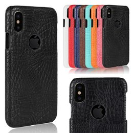 Wholesale Iphone Crocodile Leather - Ultra thin High Quality Slim Crocodile Skin Back Cover Leather Fashion Protective Case For iPhone X 6 7 plus Samsung S7 edge S8