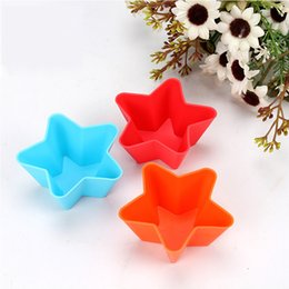 Wholesale Silicone Soap Molds Rose - Silicone Cake Liner Muffin Case Baking Mold Cup Cupcake Star Rose Soap Mold Handmade Chocolate Cake Soap Decoration Silicone Molds Crafts