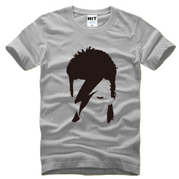 Wholesale David Bowie T Shirt - New Designer David Bowie T Shirts Men Cotton Short Sleeve Ziggy Stardust Printed Men's T Shirt Fashion Rock Bowie Male Tops Tees
