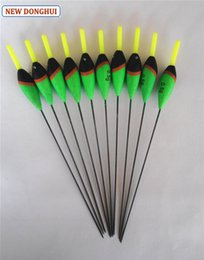 fishing floats materials Coupons - Wholesale- Newdonghui 10pcs Lot Green Fishing Float Fishing Bobber 0.5G Buoyancy Balsa Wood Material Oem Factory Store 201135