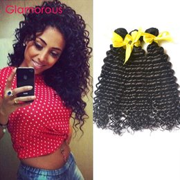 Wholesale Top Malaysian Quality Curly - Glamorous Peruvian Virgin Hair 3 Bundles Curly Hair Extensions Top Quality Brazilian Malaysian Indian Raw Unprocessed Virgin Human Hair Weft
