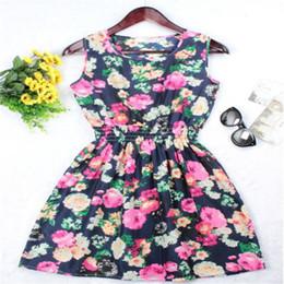 Wholesale wholesale cheap dresses for women - Sexy dresses for womens plus sized sundresses multi-color chiffon sleeveless Women clothing cheap Summer dress ouc454