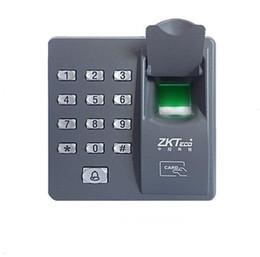 Wholesale Fingerprint Readers - New Digital Electric RFID Reader Finger Scanner ZKT X6 Code System Biometric Fingerprint Access Control for Door Lock Home Security System