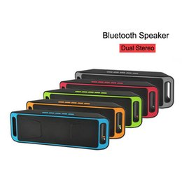 Wholesale Power Outdoor Speakers - SC-208 Mini Portable Bluetooth 4.0 Speakers Wireless Smart Handsfree Speaker Big Power Subwoofer Support TF and USB FM Radio MP3 Player