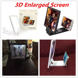 Wholesale Screen Holder - F1 Universal Mobile Phone Screen Enlarger Amplifier Magnifier 3D Video Display Folding Enlarged Expander Eyes Protection Holder With Package