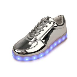 Wholesale Neon Shoes For Men - Hot Usb Colorful glowing led shoes femme with lights up luminous casual male shoes simulation Men shoes for adults neon basket X8 D3105