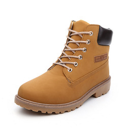 Wholesale tooling boots fashion - Wholesale-Fashion Casual Men Women Boots Autumn Winter Suede Tooling Snow boot Leather Couples Martin zapatos mujer Big