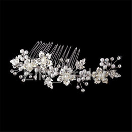 Wholesale Real Fairy Photos - New Silver Gold Bridal Comb Real Photo Free Shipping Hot Sell High Quality Wedding Crystal Flexible Hair Accessory Floral Sydney Headpieces