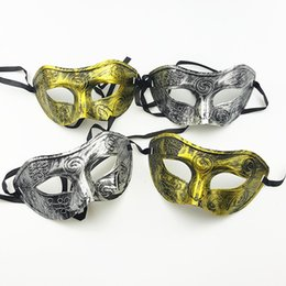 Wholesale Vintage Halloween Masks - Halloween Mask Man Greco Masquerade Masks Roman Gladiator Vintage Mask Carnival Eye Mask Halloween Costume Party Decor