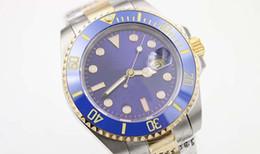 Wholesale certified steel - Famous Men's Wristwatch Popular Men's Wrist watch Blue Face Superlative Chronometer Certified Stainlesss Steel Band Sapphire original button