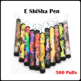 Wholesale Disposable Electronic Cig - ShiSha Pens disposable electronic cigarette vaporizer pen 500 Puffs 30 Flavours Eshisha Disposable E cig Fruit Flavors