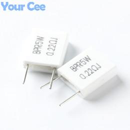 Atacado-20pcs 5W 0.22 ohm 0.22R BPR56 não-indutivo Componente Eletrônico Resistor de Cimento Cerâmico de