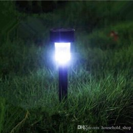 Wholesale Solar Mini Led Outdoor - Solar Lawn lamp Lights LED Corridor Tubular Mini Lamp Lawn Light Outdoor Waterproof Plastic Garden Festival Decorations Free DHL