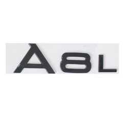 Wholesale Letters For Doors - Gloss Black Trunk Rear Number Letters Words Badge Emblem Sticker for Audi A8 A8L