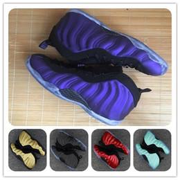 Wholesale Hardaway Shoes - cheap Eggplant Basketball Shoes FoamMaxPosites Men Penny Anfernee Hardaway T1ProOne Series Sports Shoes Athletics Sneakers footwear men size