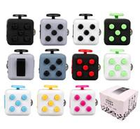 Wholesale Cube World Toys - 2017 New Popular Decompression Toy Fidget Cube CAMO colors Fidget cube the world first American decompression anxiety Toys
