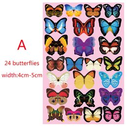 Wholesale Butterflies Bedroom - 3D Butterfly Wall Stickers 12PCS Decals Home Decor for fridge kitchen room living room home decoration