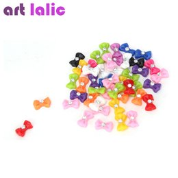 Wholesale Bows For Nails - Wholesale-2016 New Arrival 1.2cm 3D Nail Art Decorations Mix Bow Tie Rhinestone for Nails 45 Pieces