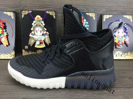 Wholesale High Top Training Shoes - Top Quality High Top Tubular Defiant Black Tubular X Primeknit Y3 Men Training Shoes Outdoor Running Shoes Outdoor Sneaker Euro 39-44