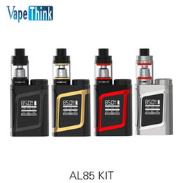 Wholesale E Cigarette Boxes - Wholesale- Original Smok AL85 Kit with 85W AL85 box Mod Vape and 3ml TFV8 Baby Tank Atomizer E-Cigarettes Kit VS SMOK Alien istick pico