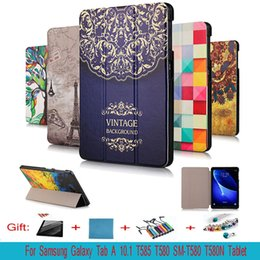 Wholesale Galaxy Tab Case Magnetic - For Samsung Galaxy Tab A 10.1 2016 T585 T580 SM-T580 T580N Ultra Slim Magnetic Leather Smart Stand Case Cover For T580