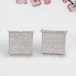 Wholesale Cz Stud Gold 925 - Luxury Fashion 2017 New Style 925 Sterling Silver Women Earrings AAA Genuine Austria Crystal CZ Diamond Stud Earrings
