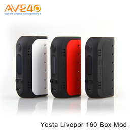 Sigelei batterien online-Authentische Yosta Livepor 160 watt TC Box Mod Angetrieben durch Dual 18650 Batterien mit VW / MECH / TC-Ni / TC-Ti / TC-SS / TCR Modus VS VOOPOO DRAG