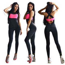 Wholesale Dance Rompers - Fashion Women Girls Bodycon Sports Jumpsuits Rompers Yoga JointTrousers Romper Panelled Bodysuit Yoga Club Dance Dresses Pants Cheap Price