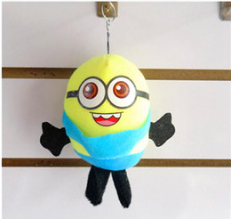 Wholesale Despicable Stuffed - Mini 8cm Despicable ME Movie Plush Toy Yellow Kid Birthday Gift Children Plush Stuffed Toys Doll baby gift doll