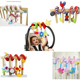 Wholesale Kids Cots - Wholesale- Cute Spiral Activity Stroller Car Seat Cot Lathe Hanging Baby play Travel Toys Newborn Baby Rattles Infant Toys for Kids as Gift